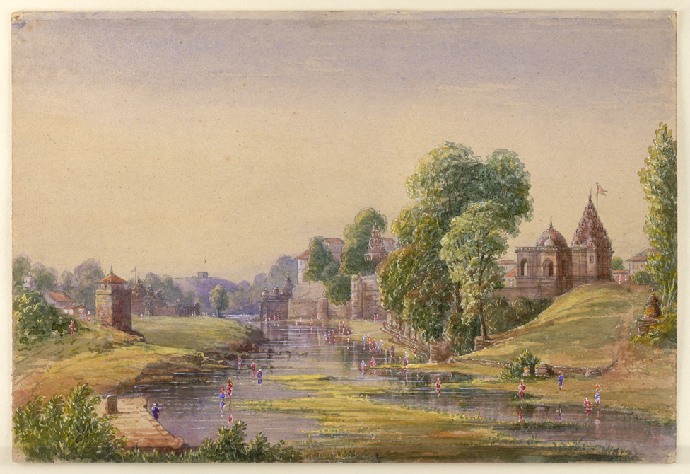 Ghats and temples, probably at Nasik 1450